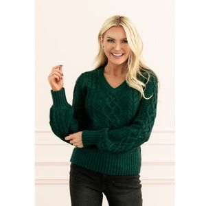 NWT Rachel Parcell Sequin Cable Knit Sweater XXS